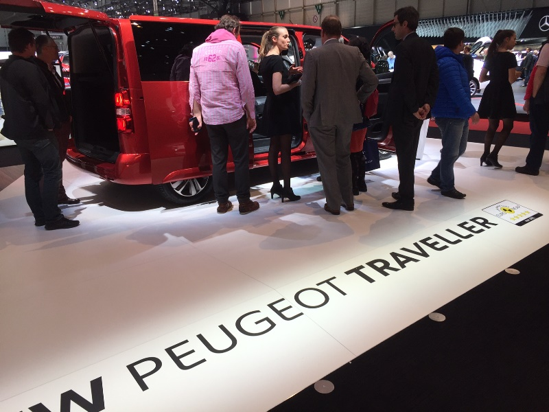 Lots of interest in the new Peugeot Traveller