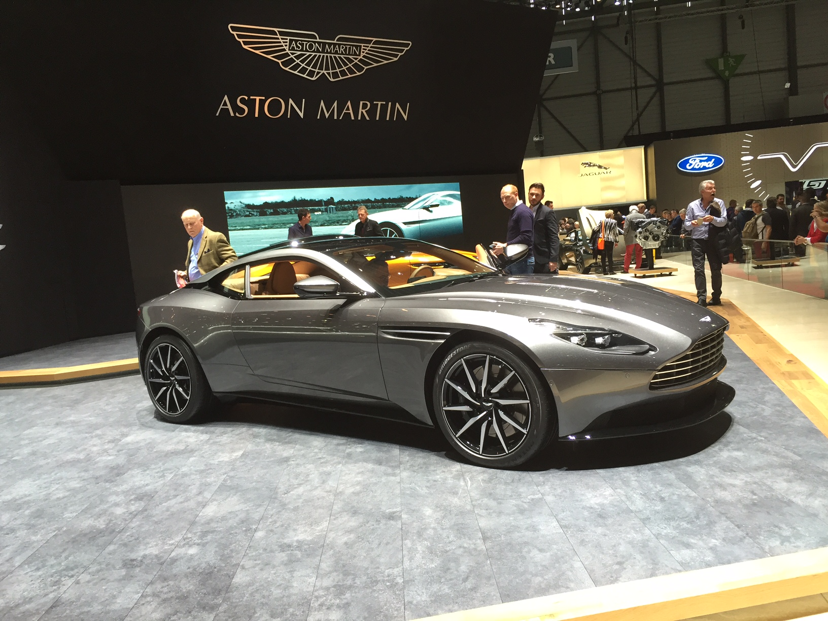 The new Aston Martin DB11 looks ominous from the side