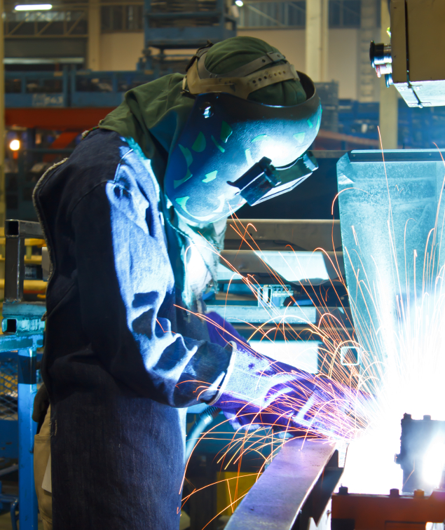 Welding with sparks the steel industry welding.