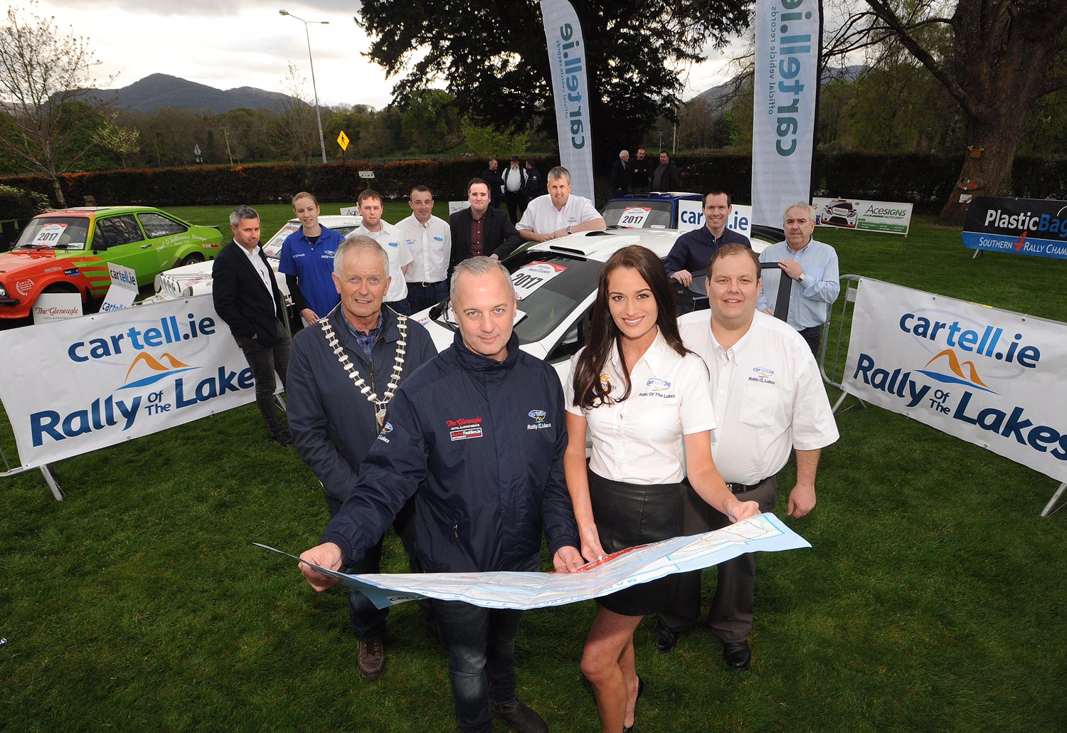 at the launch of the Cartell.ie International Rally of the Lakes at The Brehon Hotel, Killarney on Saturday night. The rally will take place in Killlarney from Friday 28th April to Sunday 30th April 2017. Picture: Eamonn Keogh