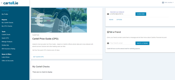 Cartell User Login, Cartell Personal Account
